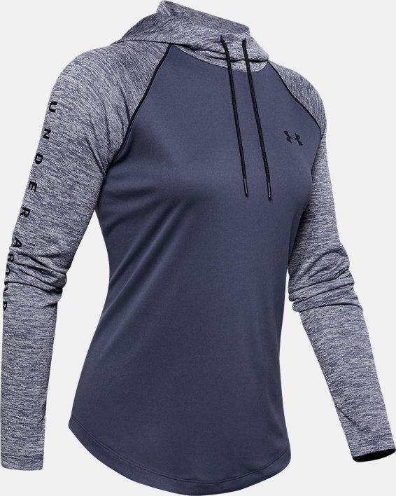 Women's UA Velocity hoodie, Blue, pdpMainDesktop image number 4