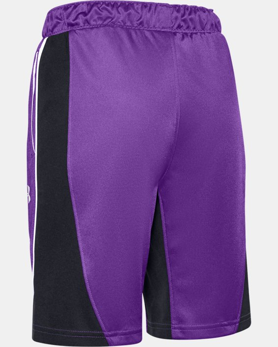 Girls' UA Basketball Shorts, Purple, pdpMainDesktop image number 1
