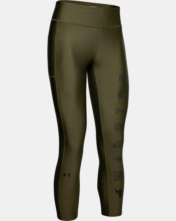 Women's Project Rock HeatGear® Armour Warrior Ankle Crop, Green, pdpMainDesktop image number 3