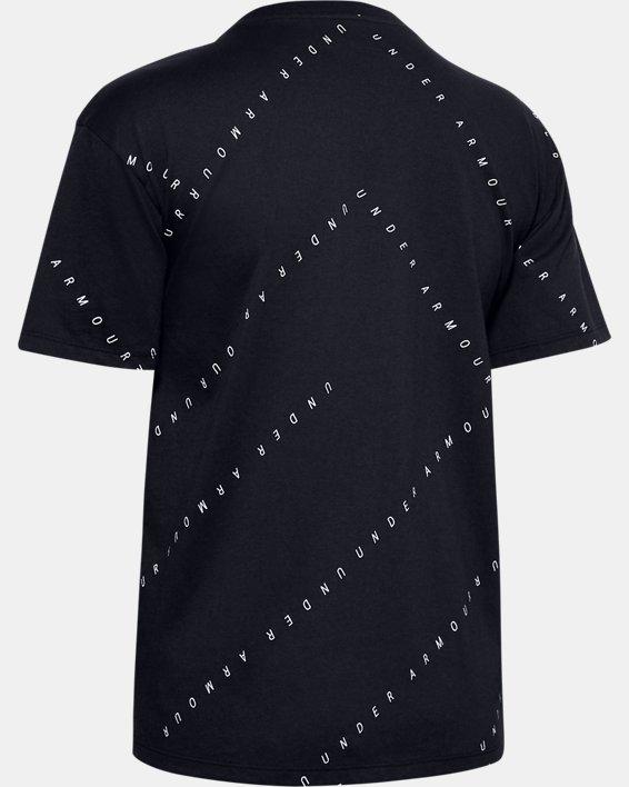 Women's UA Logo Print Live Short Sleeve, Black, pdpMainDesktop image number 5