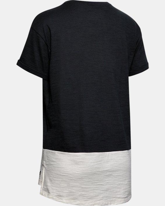 Women's Project Rock Charged Cotton® Short Sleeve, Black, pdpMainDesktop image number 5