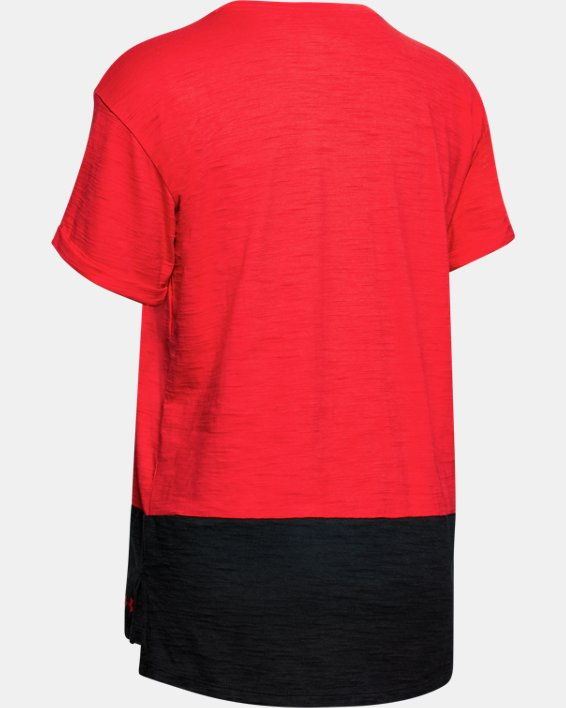 Women's Project Rock Charged Cotton® Short Sleeve, Red, pdpMainDesktop image number 5