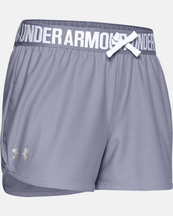 Girls' UA Play Up Shorts, Purple, pdpMainDesktop image number 0