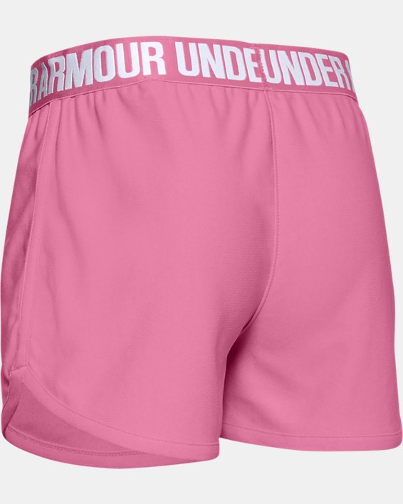 Girls' UA Play Up Shorts, Pink, pdpMainDesktop image number 1