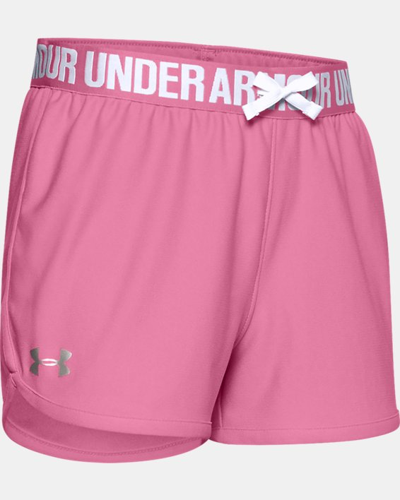 Girls' UA Play Up Shorts, Pink, pdpMainDesktop image number 0