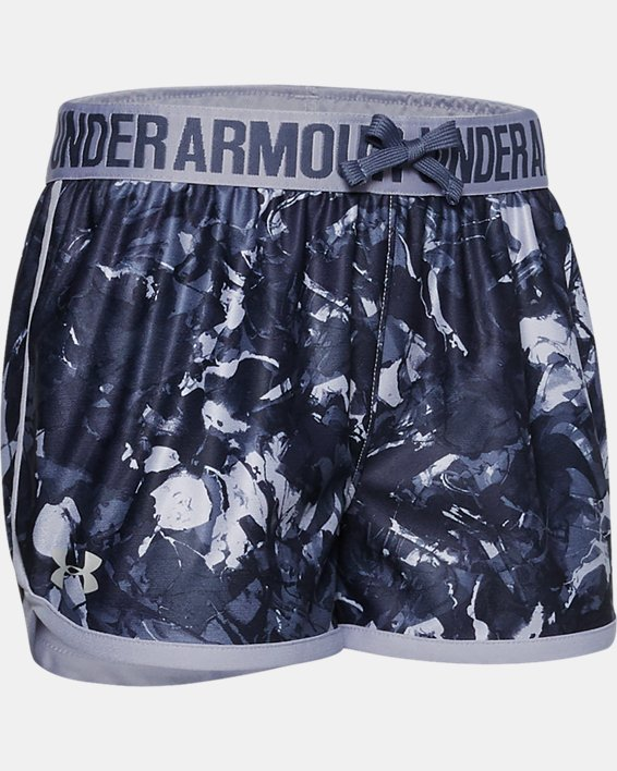 Girls' UA Play Up Print Shorts, Purple, pdpMainDesktop image number 0