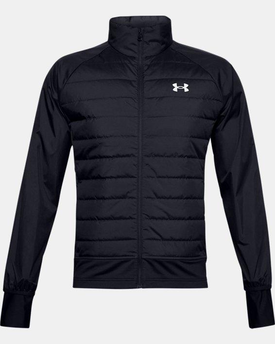 Men's UA Run Insulate Hybrid Jacket, Black, pdpMainDesktop image number 3