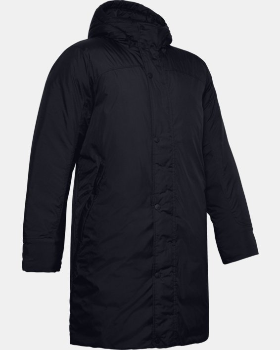 Men's UA Armour Insulated Bench Coat, Black, pdpMainDesktop image number 3