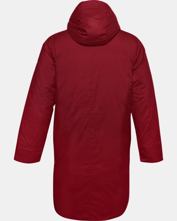 Men's UA Armour Insulated Bench Coat, Red, pdpMainDesktop image number 4