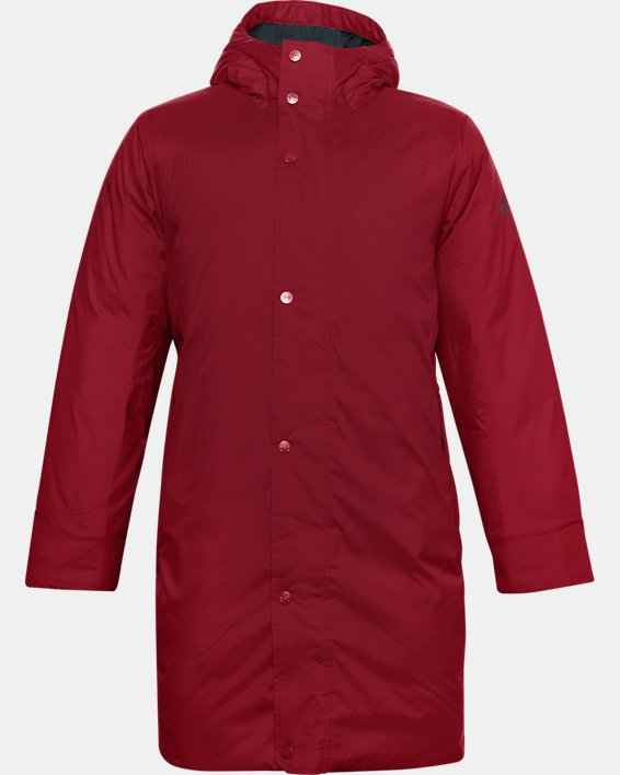 Men's UA Armour Insulated Bench Coat, Red, pdpMainDesktop image number 3