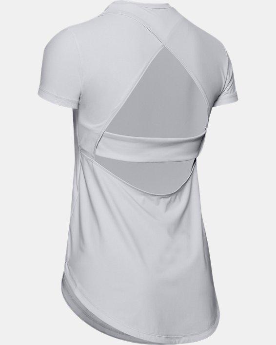 Women's UA Breathelux Stretch Open Back Short Sleeve, Gray, pdpMainDesktop image number 5
