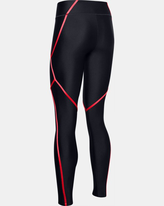 Women's HeatGear® Armour Shine Edgelit Leggings, Black, pdpMainDesktop image number 5