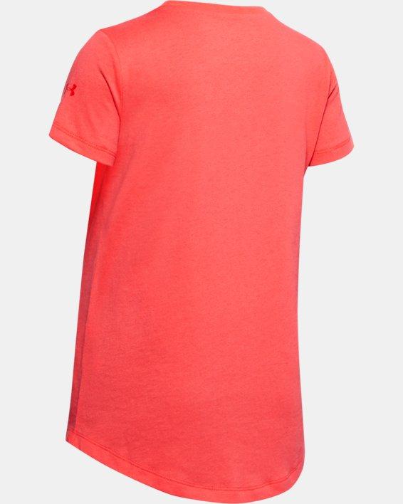 Girls' Project Rock Aloha Short Sleeve, Red, pdpMainDesktop image number 1