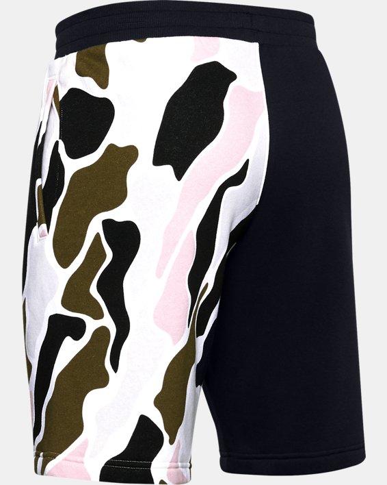 Men's UA Rival Fleece Colorblock Camo Shorts, Black, pdpMainDesktop image number 5