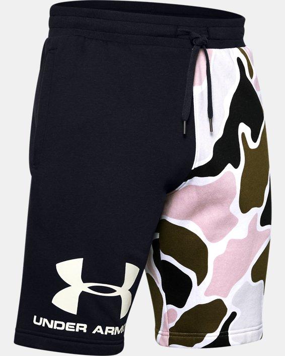 Men's UA Rival Fleece Colorblock Camo Shorts, Black, pdpMainDesktop image number 4