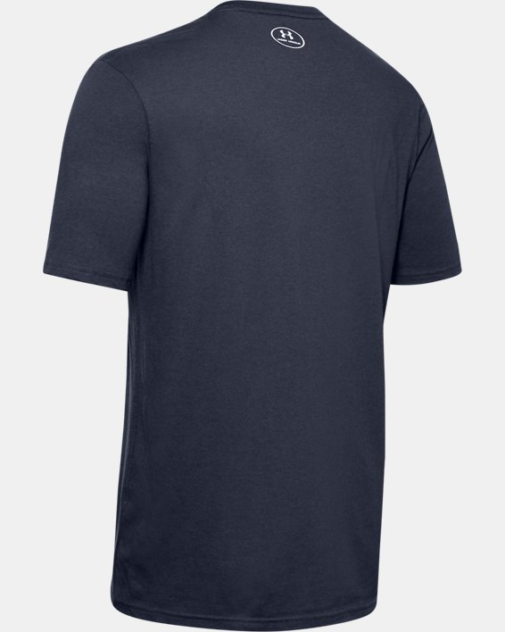 Men's UA Lockup Short Sleeve, Navy, pdpMainDesktop image number 5