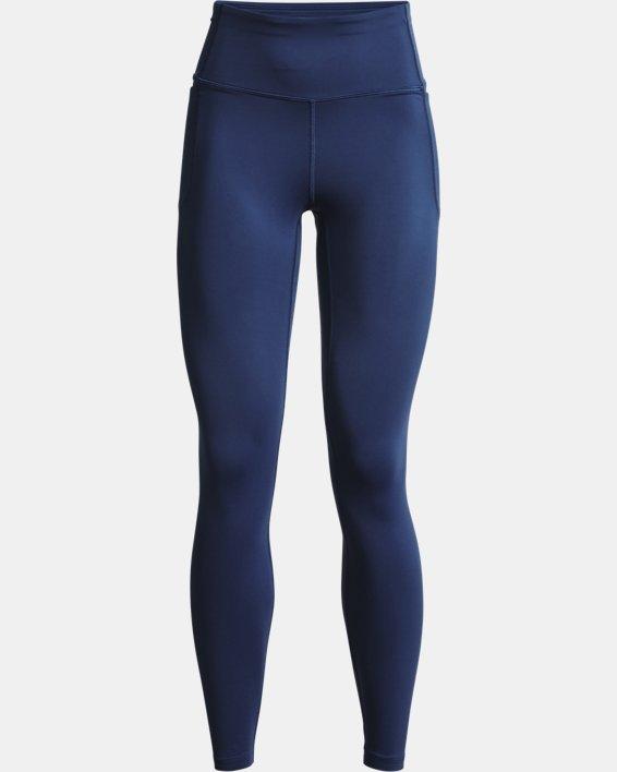 Women's UA Meridian Leggings, Blue, pdpMainDesktop image number 4