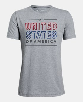 044863d7f Boys' UA Freedom United States Short Sleeve 2 Colors Available $20