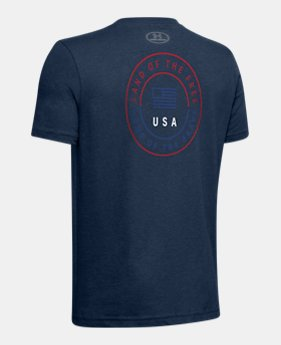 66e8be529 Boys' UA Freedom USA Circle Short Sleeve 1 Color Available $20