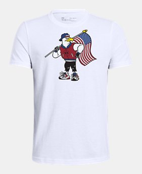 34458184e Boys' UA Freedom Eagle Character Short Sleeve 2 Colors Available $20