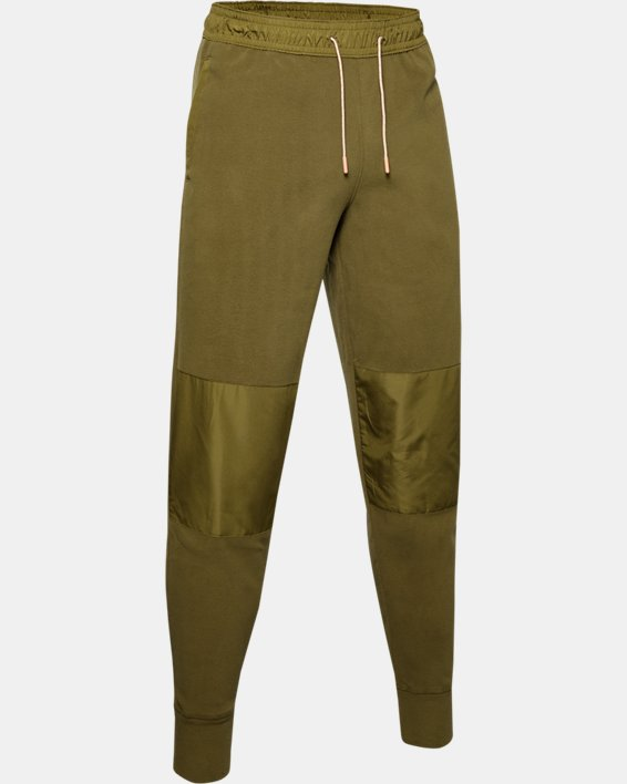 Men's UA Always On Polar Fleece Pants, Green, pdpMainDesktop image number 4