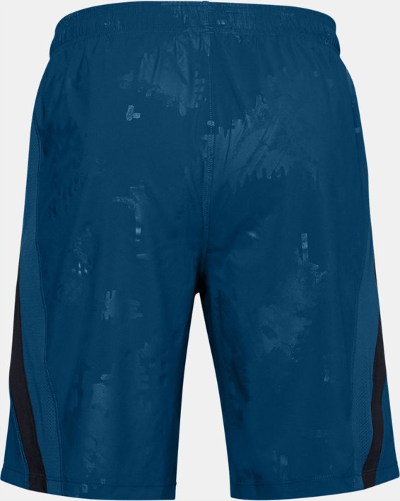 Men's UA Launch SW 9'' Emboss Shorts, Blue, pdpMainDesktop image number 1