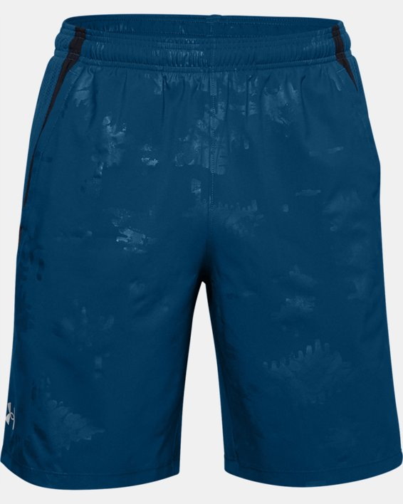 Men's UA Launch SW 9'' Emboss Shorts, Blue, pdpMainDesktop image number 0