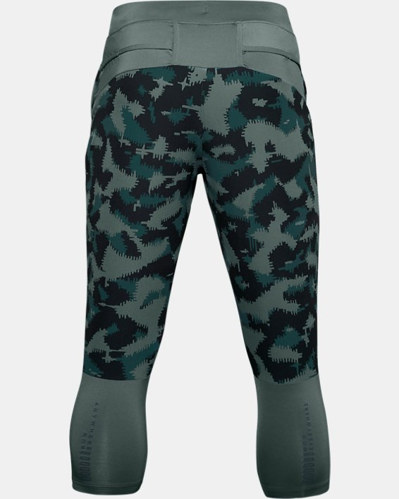 Men's UA Run Anywhere Printed ¾ Pants, Blue, pdpMainDesktop image number 1