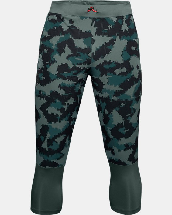 Men's UA Run Anywhere Printed ¾ Pants, Blue, pdpMainDesktop image number 0