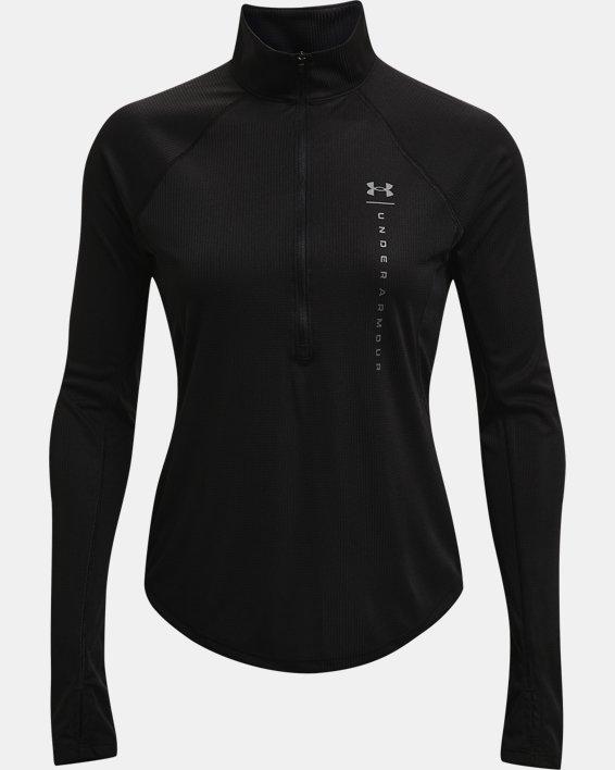 Women's UA Speed Stride Attitude ½ Zip, Black, pdpMainDesktop image number 3