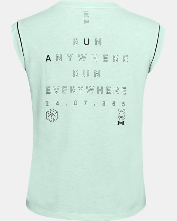 Women's UA Run Anywhere Short Sleeve, Blue, pdpMainDesktop image number 2