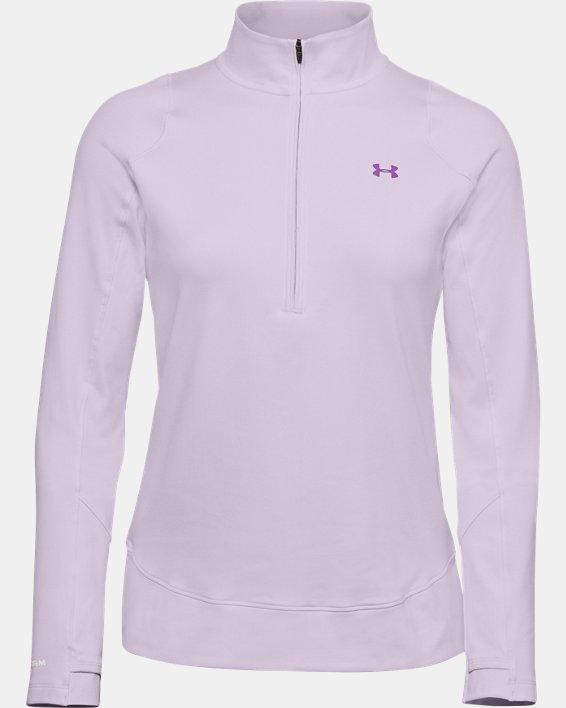 Women's UA Storm Midlayer ½ Zip, Purple, pdpMainDesktop image number 3
