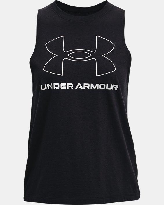 Women's UA Sportstyle Graphic Tank, Black, pdpMainDesktop image number 3