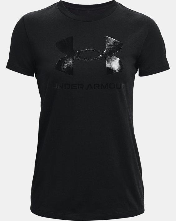 Maglia a manica corta UA Sportstyle Graphic da donna, Black, pdpMainDesktop image number 4