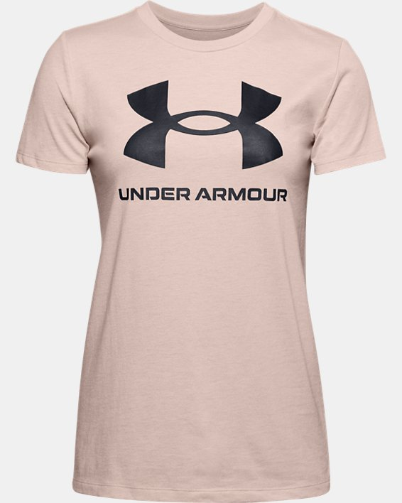 Women's UA Sportstyle Graphic Short Sleeve, Brown, pdpMainDesktop image number 3