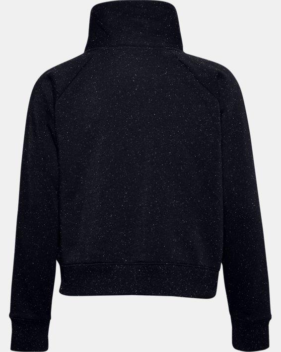 Women's UA Rival Fleece Wrap Neck, Black, pdpMainDesktop image number 4