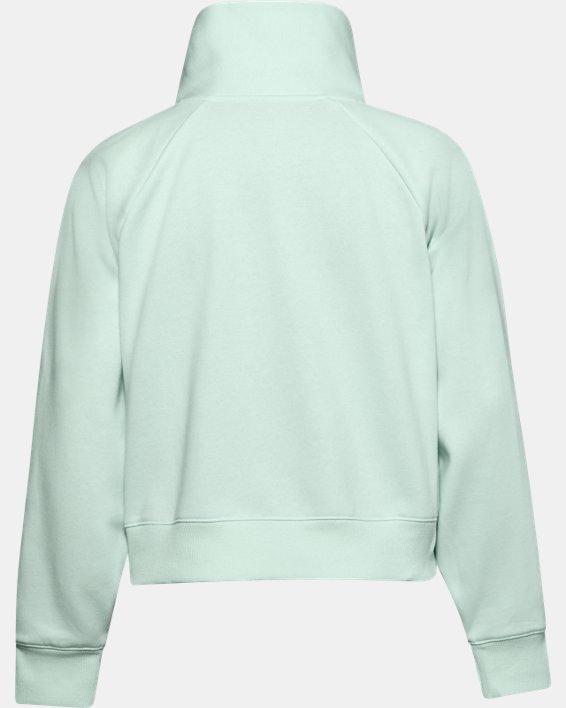 Women's UA Rival Fleece Wrap Neck, Blue, pdpMainDesktop image number 4