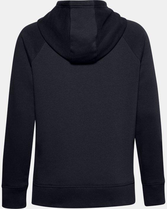 Women's UA Rival Fleece HB Hoodie, Black, pdpMainDesktop image number 5
