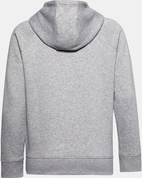 Sudadera con capucha de tejido Fleece UA Rival HB para mujer, Gray, pdpMainDesktop image number 6