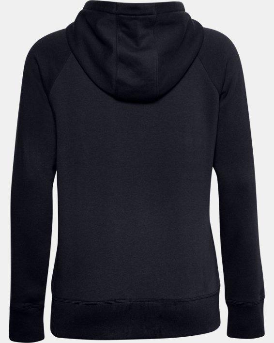 Women's UA Rival Fleece Logo Hoodie, Black, pdpMainDesktop image number 4