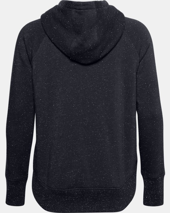 Sweat à capuche UA Rival Fleece Metallic pour femme, Black, pdpMainDesktop image number 4