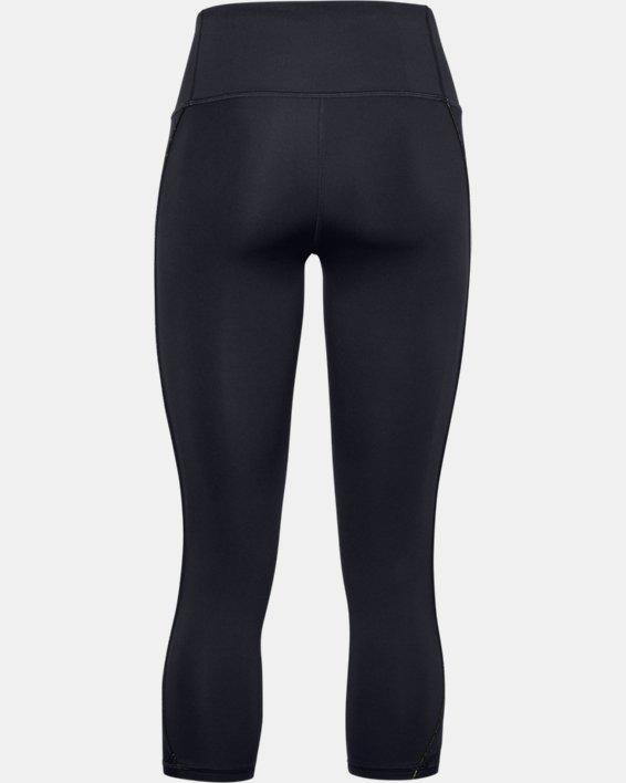 Women's UA RUSH™ Side Piping Crop, Black, pdpMainDesktop image number 5