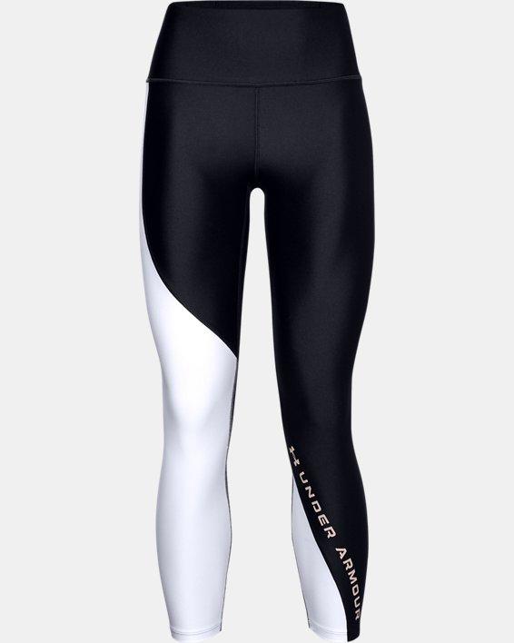 Legging 7/8 HeatGear® Armour Wordmark pour femme, Black, pdpMainDesktop image number 0