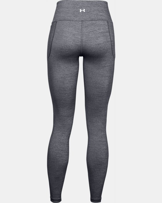 Leggings UA Meridian Heather Full-Length para mujer, Black, pdpMainDesktop image number 4
