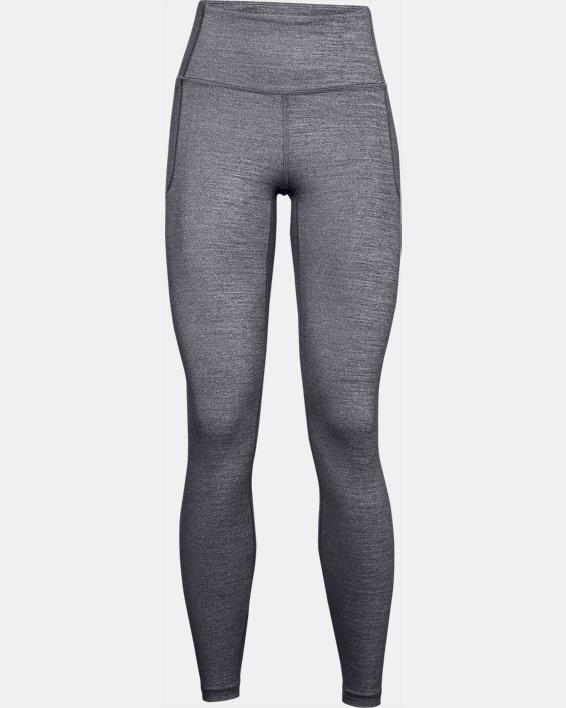 Leggings UA Meridian Heather Full-Length para mujer, Black, pdpMainDesktop image number 3