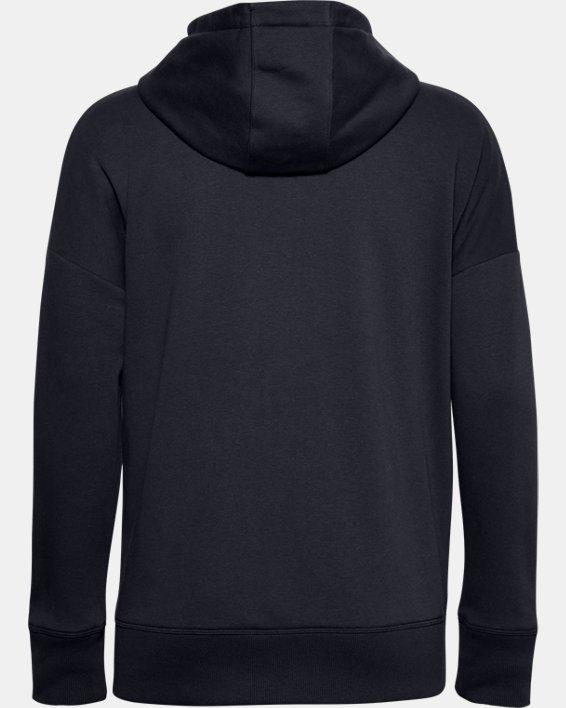 Women's UA Rival Fleece Full Zip Hoodie, Black, pdpMainDesktop image number 4