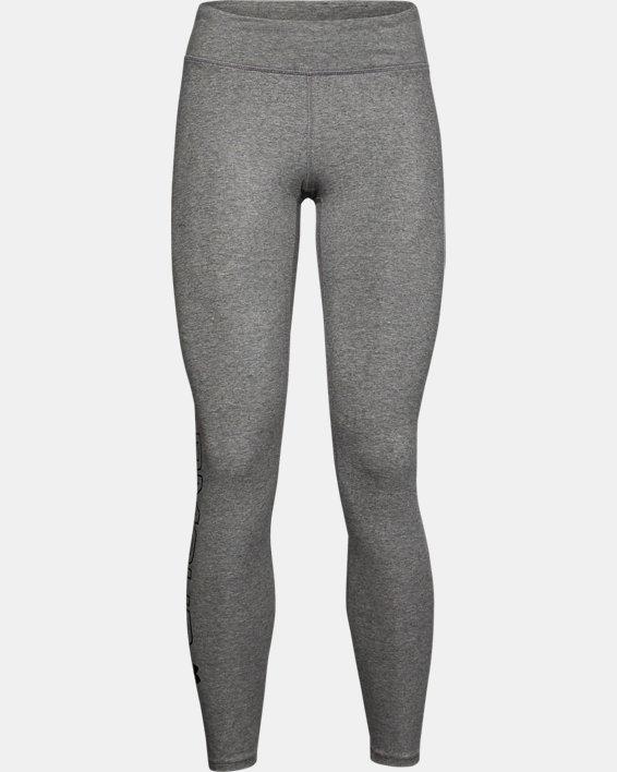 Women's UA Favorite Wordmark Leggings, Gray, pdpMainDesktop image number 4
