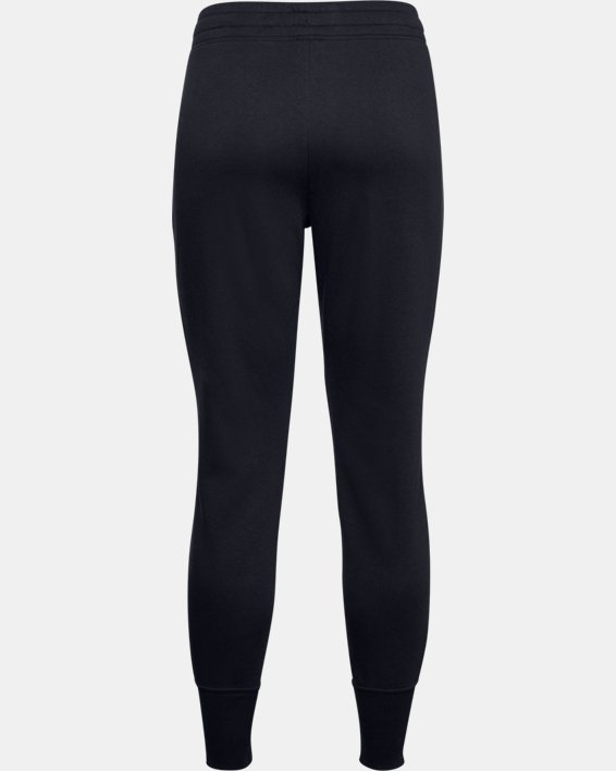 Women's UA Rival Fleece Joggers, Black, pdpMainDesktop image number 6