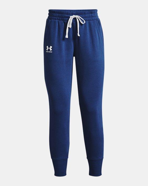 Women's UA Rival Fleece Joggers, Blue, pdpMainDesktop image number 3