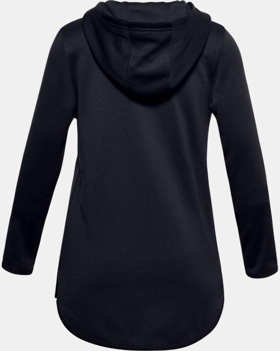 Girls' Armour Fleece® Graphic Hoodie, Black, pdpMainDesktop image number 1
